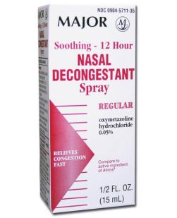 Nasal Spray, 12 Hour, .5 oz, 12/bx 3 bx/cs (Continental US Only)