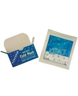 Cold Pack, Instant, Non-Insulated, 5 x 5 ½, First Aid Kit Size, Disposable, 50/cs (75 cs/plt) (Individually boxed)