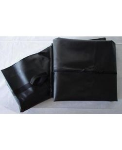 Adult Cadaver Bag, 36 x 90, White, Curved Zipper, 3 White & 3 Yellow ID Tags, 5 mil Vinyl, 10/cs