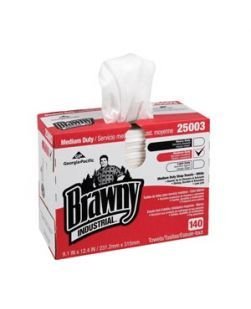 Disposable Cleaning Towels, Brawny® Professional D400, Tall Box, 9.250W x 16.300L, White, 90/bx, 10bx/cs