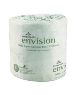 Embossed Bathroom Tissue, 2-Ply, White, 4½ x 4.05, 550 sht/rl, 80 rl/cs (20 cs/plt)
