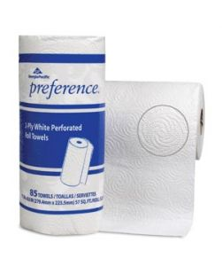 Jumbo Perforated Roll Towels,  White, 11 x 8.8 Sheets, 85 sht/rl, 30 rl/cs (24 cs/plt)