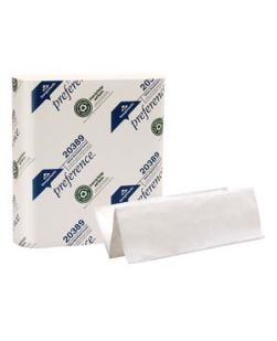 Multifold Paper Towels, Paper Band, White, 9¼ x 9½ Sheets, 250 ct/pk, 16 pk/cs