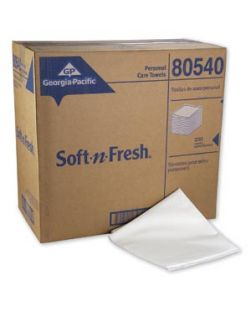 Patient Care Airlaid Disposable Bath Towels, White, 19½ x 39, 200 sht/cs