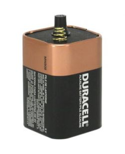Battery, Alkaline, 6V, Spring Top, 6/cs (UPC# 09006)