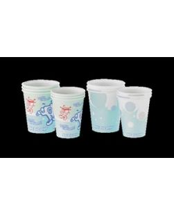 Paper Cup, 4 oz, Healthy Teeth Design, 100/slv, 10slv/cs (Not Available for sale into Canada)