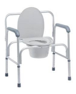 3-in-1 Aluminum Commode, 2/cs