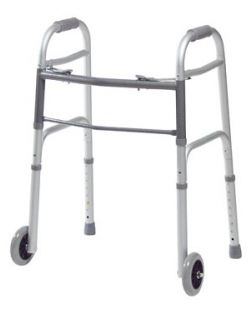 Folding Walker, 5 Fixed Wheels, Junior, 4/cs