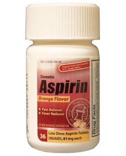 Aspirin, Chewable Tablets, 81mg, 36/btl, 24 btl/cs, Compare to St. Joseph® Aspirin (Not Available for sale into Canada)