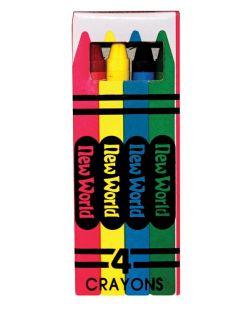 4-Pack Crayons, 36/bx, 10 bx/cs