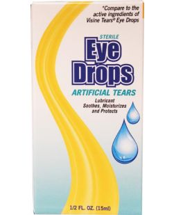 Artificial Tears Eye Drops, 0.5 oz, Compared to the Active Ingredients of Visine® Tears, 48/cs (Not Available for sale into Canada)