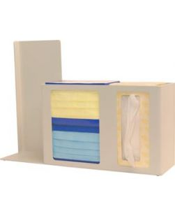 Respiratory Hygiene Station Holds Two Boxes of Face Masks 1-2 Boxes of Facial Tissues 1 Hand Sanitiz