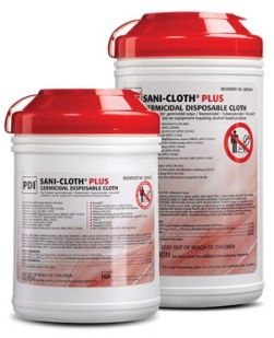 Plus Germicidal Disposable Cloth, X-Large,7½ x 15, 65/canister, 6 can/cs (40 cs/plt) (091256) (US Only)