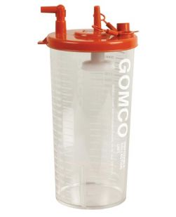 Disposable Collection Canister, Stem Inlet & Hydrophobic Filter, 2100mL, 42/cs