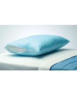 Pillow Protector, 20 x 25, Blue, Fluid Barrier, Flap Closure, Limited Use, 50/cs