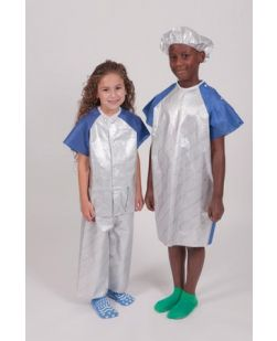 Jacket, Pediatric, Large, Silver/ Blue, 50/cs
