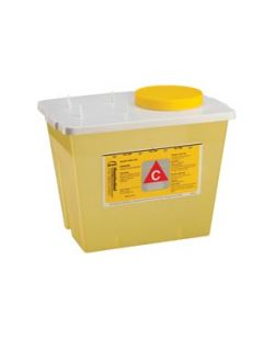 Chemo Container, 2 Gal, Yellow, 30/cs
