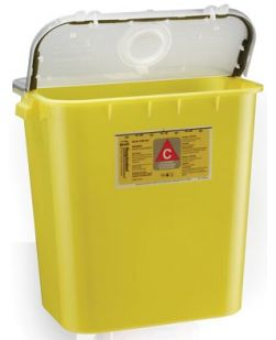 Chemo Container, 8 Gal, Yellow, 10/cs