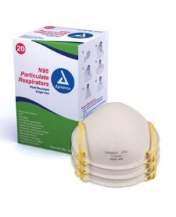 N95 Particulate Respirator Masks, Molded, 20/bx, 12 bx/cs