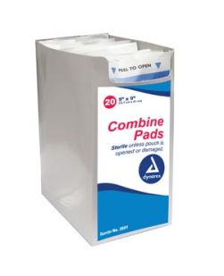 Combine Pad, 5 x 9, Non-Sterile, Bulk, 576/cs