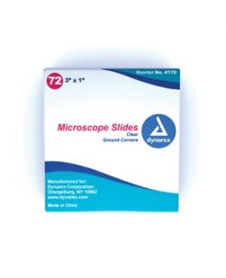 Microscope Slides, Frosted, Corner Grounded, 3 x 1, 72/bx, 20 bx/cs