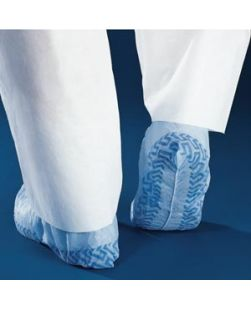 Shoe Cover, Non-Skid, Non-Conductive, Flat, Regular, Blue, 100/bx, 3 bx/cs