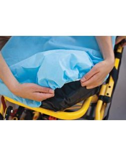 Drape/ Stretcher Sheet, Tissue/ Poly, 40 x 90, Blue, 50/cs (36 cs/plt)