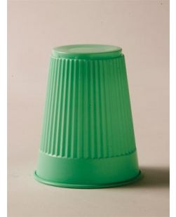 Plastic Cup, Green, 5 oz, 100/bg, 10 bg/cs