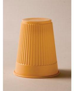 Plastic Cup, Peach, 5 oz, 100/bg, 10 bg/cs