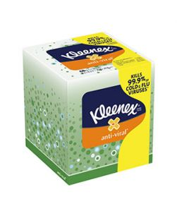 Kleenex® Anti-Viral, 68 sheets/bx, 27 bx/cs (36 cs/plt)