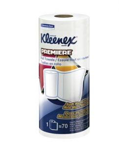 Kleenex® Premiere Perforated Roll Towels, 1-Ply, 70 sheets/rl, 24 rl/cs (18 cs/plt)
