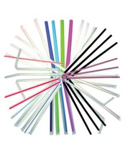 Jumbo Straws, Clear, 10¼, Individually Wrapped, 2000/cs (DROP SHIP ONLY)