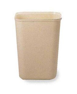 2543 Fire Resistant Wastebasket, 28 Qt, Beige, 6/cs (DROP SHIP ONLY)