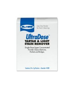 UltraDose Tartar & Light Stain Remover Powder, 1 oz Packet, 24/bx, 6 bx/cs