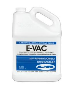 E-Vac Concentrate, Gallon Bottle, 4/cs (20 cs/plt) (Item is considered HAZMAT and cannot ship via Air or to AK, GU, HI, PR, VI)