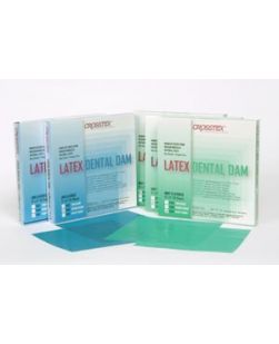Dental Dam, Heavy, Blue, 5 x 5, Unflavored, 52 sheets/bx
