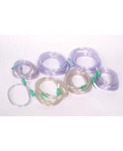 Connecting Tube, ¼ x 6 ft, Sterile, Latex Free (LF) with Rigid, Bulb Tip, Non-Vented Yankauer Pre-Attached, 50/cs