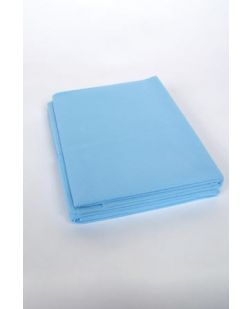 Fitted Cot Sheet, 33 x 89, Non-Woven, White, 50/cs