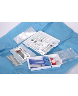 Basic Pain Control Procedure Support Tray, 5mL Lidocaine 1% & 10mL NaCi 0.9% (Rx), 10/cs