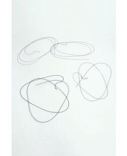 10/0 Nylon Suture, Black Mono, 1/2.5cm, BRM5, 5mm Bicurve, 12/bx