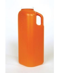 Specimen Container, 120mL, Quick Turn? O-Ring Cap, Orange, Sterility Seal & Label, 4 oz Capacity, Individually Bagged, 100/cs