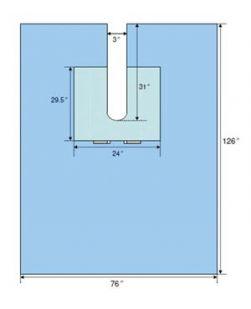 Century EENT Split Drape, 76 x 124, Latex Free (LF), Sterile, 14/cs