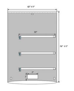 C-Arm Mobile X-Ray Drape, 42 x 74 (106cm x 188cm), 3 Tie Straps, Sterile, 60/cs