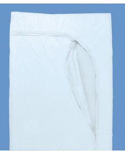 Post Mortem Bag, White, Curved Zipper, 3 White Tags, 10/cs