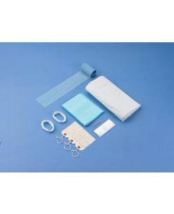 Post Mortem Kit, White, Curved Zipper, 3 White Tags, 10/cs