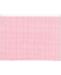 Chart Paper, Marquette? 9402-020, 8.44 x 275 ft, Red Grid, 8/cs