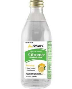 Citrate of Mag, Low Sodium, Lemon, 10 oz, 12/cs (160 cs/plt) (Must Ship LTL Only, Cannot Ship Parcel)  (US Only) (68638)