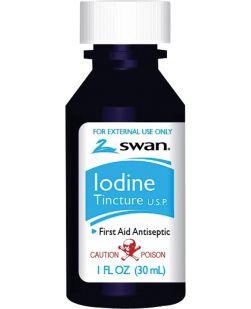 Iodine Tincture, 1 oz, 72/cs (08810) (US Only)