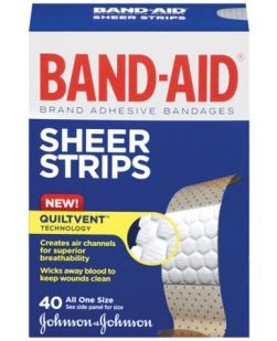 All One Size Sheer Adhesive Bandages, 40/bx, 24 bx/cs