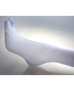 Anti-Embolism Stocking, Knee Long Length, Large, Calf Circumference: 15-17, Length to Knee: 19-20, Top Color: Blue, Toe Port Color: Blue, 12/cs
